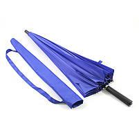 Зонт женский Lesko T-1001 Blue 24 спицы механический ветрозащитный от дождя, фото 3