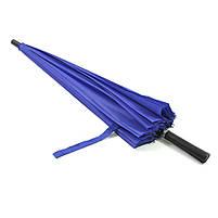 Зонт женский Lesko T-1001 Blue 24 спицы механический ветрозащитный от дождя, фото 4