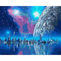 Картина раскраска по номерам на холсте - 40*50см BrushMe GX35344 Близкая планета
