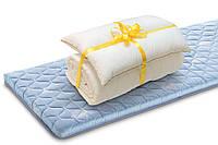 Ортопедический топпер Ролл Ап Зеленый чай + одеяло + подушка в ПОДАРОК  80х190 см
