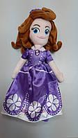М'яка лялька Софія фіолетову сукню
