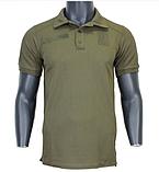 Военная футболка-поло с липучкой (Coolpass, Coolmax) - размер XL (50), фото 2