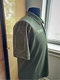 Военная футболка-поло с липучкой (Coolpass, Coolmax) - размер XL (50), фото 4