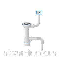Сифон для мийки з переливом, випуск 3 1/2, гофра d40/50 1047N