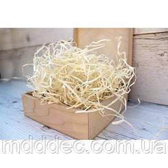 Декоративний наповнювач для подарунків деревна стружка 40 грам