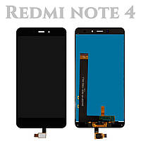 Модуль для Xiaomi Redmi Note 4, черный, Дисплей с сенсорным экраном, Original, MediaTek