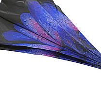 Зонт наоборот Up-Brella Роса на цветке механический ветрозащитный обратного сложения антизонт, фото 2