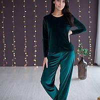 Пижама женская из бархата: кофта/брюки