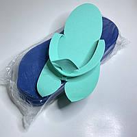 Одноразовые тапочки для педикюра 12 пар синие