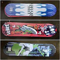 Скейт дерево 7 слоёв, пластиковая подвеска, колесо ПВХ(принты разные )