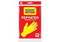 БОНУС Перчатки резиновые универчальные М
