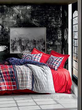 Комплект постельного белья Cotton Box 4 Сезона Masculine Marco Red со стеганным пододеяльником