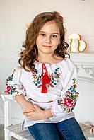 Дитяча вишита блуза машинної вишивки