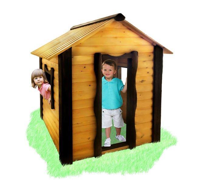 Детский домик Babygrai - зеленый-желтый-цветной