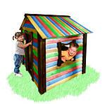 Детский домик Babygrai - зеленый-желтый-цветной, фото 3