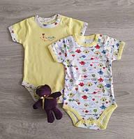 Боди для новорожденных хлопок короткий рукав Слоники Польша. Бодіки для немовлят, фото 1