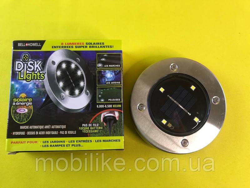 Уличный светильник на солнечной батарее Solar Disk Lights