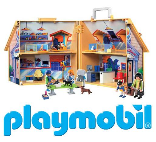 Игрушечный домик для кукол Playmobil 5870 Ветеринарная клиника
