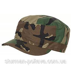 Кепка польова армійська камуфляж вудланд бавовна 100% ріп-стоп MFH Німеччина