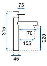 Смеситель для раковины (умывальника) REA TESS, фото 2