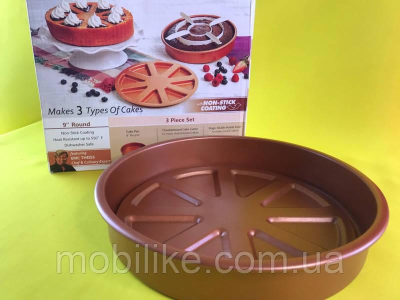 Антипригарная форма для выпечки Copper Chef Perfect Cake Pan
