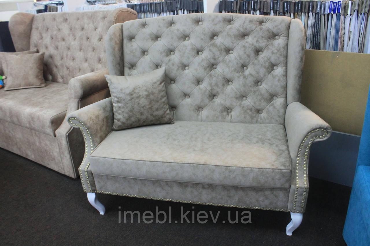 Диванчик в стилі прованс для кафе чи ресторану (світло-сірий)