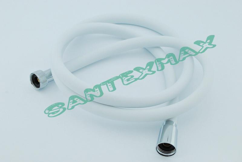 Шланг для душа силиконовый Akraina White с подшипником