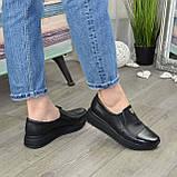 Женские туфли кожаные на утолщенной подошве, фото 2
