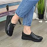Женские туфли кожаные на утолщенной подошве, фото 3