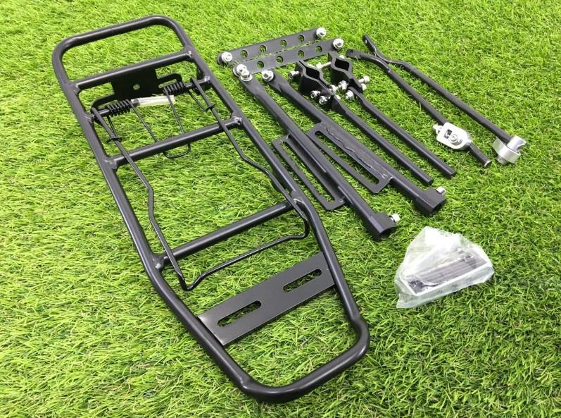 Багажник многофункциональный алюминевый,черный, под 26 колесо