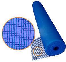 Сетка фасадная синяя 1м х 50м.п.,145 гр / м2 5*5мм