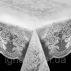 "2385 Клеенка виниловая ажурная отрывная ""Lace"" 1.37*1.80м 10шт/рул бежево-белая (2рул)"