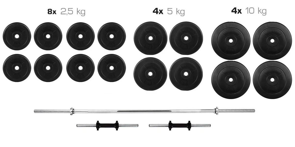 Штанга 90 кг прямая фиксированная + Гантели 2*21 кг разборные комплект набор