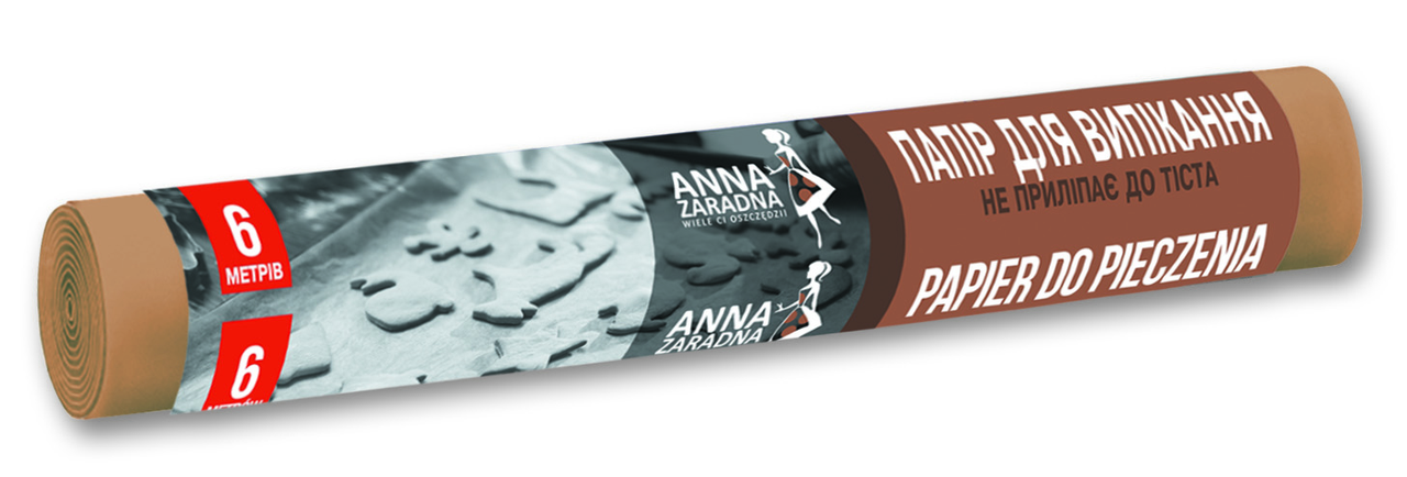 Пергаментная бумага для выпечки, 6 м, Anna Zaradna Анна Зарадна