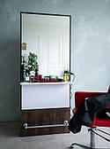 Рабочее место парикмахера М424 с большым зеркалом