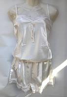 Комбинезон для сна с кружевом атласный женский (ПОШТУЧНО)