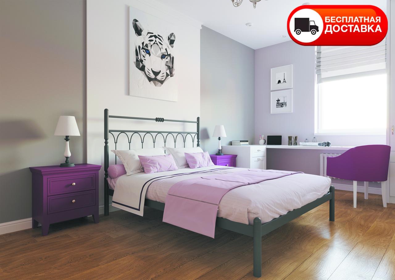 Двоспальне ліжко Тіффані 160*200/180*200 «Метал-Дизайн»