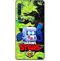 Силиконовый бампер чехол для Xiaomi Mi Note 10 с Героем Бравл Старс 8-Бит