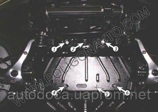 Защита картера двигателя Kia Mohave 2009-