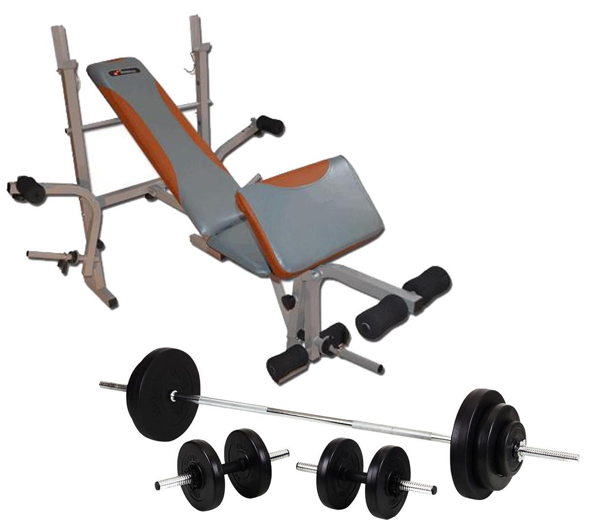 Скамья для жима EverTop 307 + Штанга 50 кг + Гантели 2*21 кг комплект набор