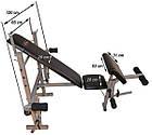 Скамья для жима EverTop 307 + Штанга 50 кг + Гантели 2*21 кг комплект набор, фото 4