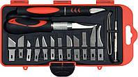 Ножи прецизионные со сменными лезвиями, набор 16 шт, YATO