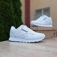 Мужские кроссовки в стиле Reebok Classic белые, фото 1