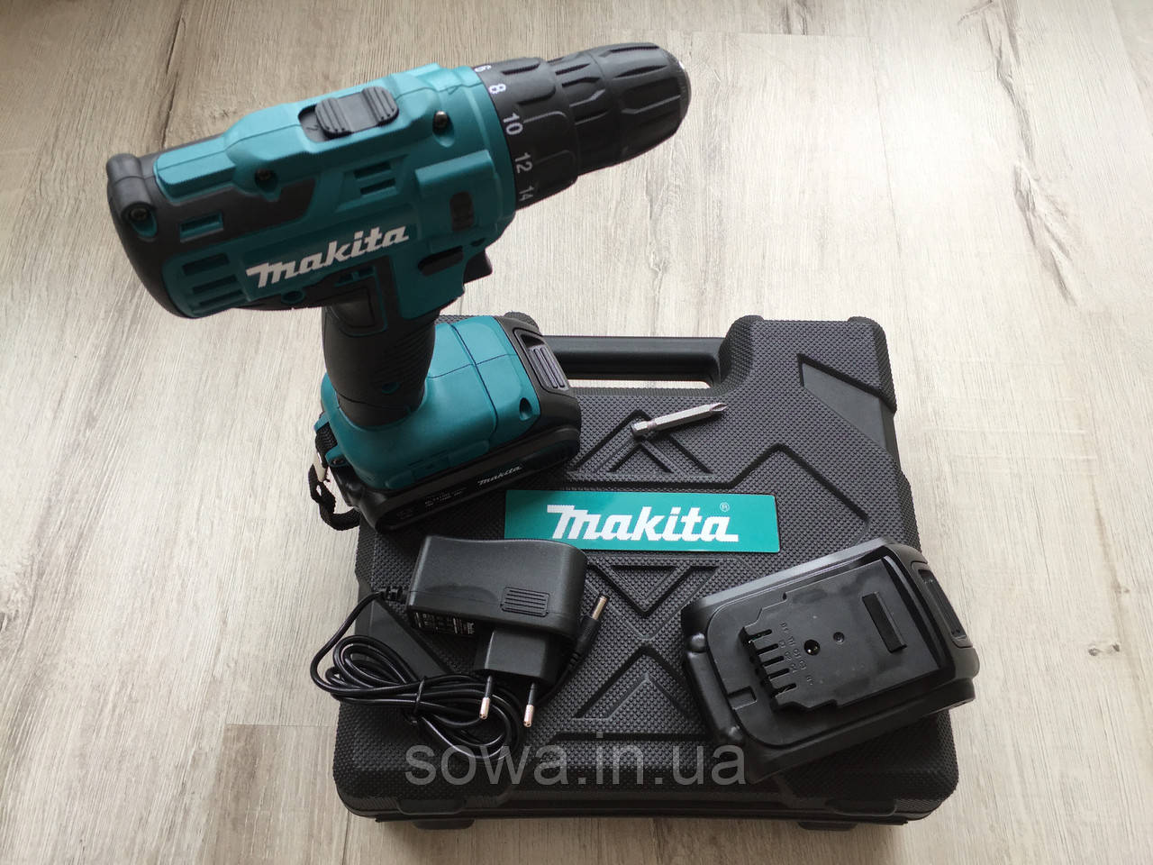 ✔️ Аккумуляторный Шуруповерт Makita DF332D ( 18V : Черный кейс )