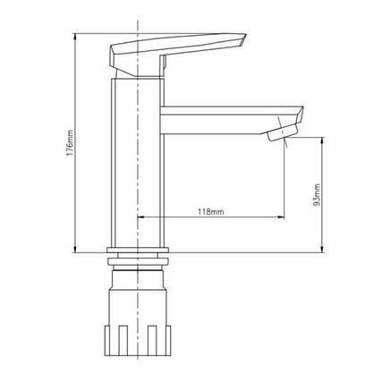 Смеситель для раковины Lidz (CRM)-13 33 001 00, фото 2