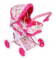 Детская коляска трансформер для кукол и пупсов, 3 положения: спальная, прогулочная, переносная люлька
