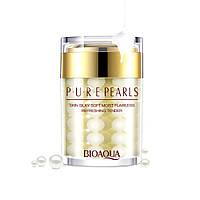 Крем увлажняющий BIOAQUA Pure Pearls для лица с натуральной жемчужной пудрой 60г Оригинал Биоаква