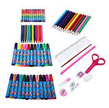 Набор для рисования 86 предметов, голубой, набор для творчества, подарок ребенку, набор художника, фото 3