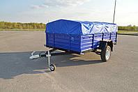 Прицеп легковой автомобильный Korida-Tech (2.76м*1.56м, борт 50см) опорное колесо в комплекте