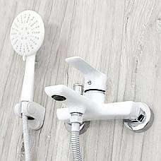Душовий гарнітур REA SKY WHITE для ванни настінний білий, фото 2